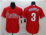 Philadelphia Phillies #3 Bryce Harper Red 2020 Cool Base Jersey