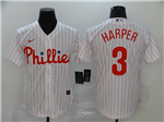 Philadelphia Phillies #3 Bryce Harper White 2020 Cool Base Jersey