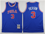 Philadelphia 76ers #3 Allen Iverson 1996-97 Throwback Blue Jersey