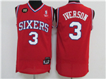 Philadelphia 76ers #3 Allen Iverson 10th Anniversary Throwback Red Jersey