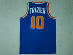 New York Knicks #10 Walt Frazier 1971-72 Throwback Blue Jersey