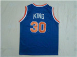 New York Knicks #30 Bernard King Throwback Blue Jersey