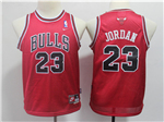 Chicago Bulls #23 Michael Jordan Youth Throwback Red Jersey