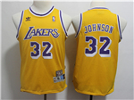 Los Angeles Lakers #32 Magic Johnson Youth Gold Hardwood Classic Jersey