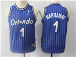Orlando Magic #1 Anfernee Hardaway Youth Throwback Blue Jersey