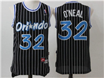 Orlando Magic #32 Shaquille O'Neal Throwback Black Jersey
