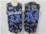 Orlando Magic #32 Shaquille O'Neal Black Tear Up Pack Hardwood Classics Jersey