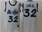 Orlando Magic #32 Shaquille O'Neal Throwback White Jersey