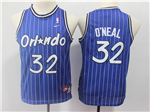 Orlando Magic #32 Shaquille O'Neal Youth Throwback Blue Jersey