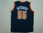 Denver Nuggets #55 Dikembe Mutombo Navy Blue Hardwood Classic Jersey