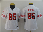 San Francisco 49ers #85 George Kittle Women's White Color Rush Limited Jersey