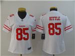 San Francisco 49ers #85 George Kittle Women's White Vapor Limited Jersey