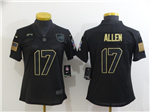 Buffalo Bills #17 Josh Allen 2020 Women's Black Salute To Service Limited Jersey