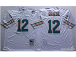 Miami Dolphins #12 Bob Griese Throwback White Jersey