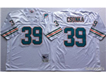 Miami Dolphins #39 Larry Csonka Throwback White Jersey