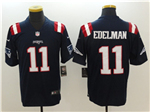 New England Patriots #11 Julian Edelman Blue Color Rush Limited Jersey