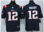 New England Patriots #12 Tom Brady Blue Color Rush Litmited Jersey