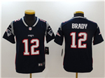 New England Patriots #12 Tom Brady Youth Blue Vapor Untouchable Limited Jersey