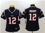 New England Patriots #12 Tom Brady Women's Blue Vapor Untouchable Limited Jersey