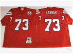 New England Patriots #73 John Hannah 1984 Throwback Red Jersey