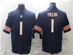 Chicago Bears #1 Justin Fields Blue Vapor Limited Jersey