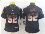 Chicago Bears #52 Khalil Mack Women's Black Arch Smoke Limited Jersey