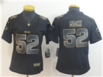 Chicago Bears #52 Khalil Mack Women's Black Gold Vapor Limited Jersey