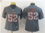 Chicago Bears #52 Khalil Mack Women's Gray Camo Limited Jersey