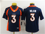 Denver Broncos #3 Drew Lock Women's Blue Vapor Limited Jersey
