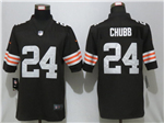 Cleveland Browns #24 Nick Chubb 2020 Brown Vapor Limited Jersey