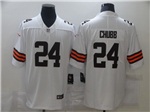 Cleveland Browns #24 Nick Chubb 2020 White Vapor Limited Jersey