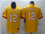 Tampa Bay Buccaneers #12 Tom Brady Orange Super Bowl LV Limited Jersey