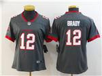 Tampa Bay Buccaneers #12 Tom Brady Women's 2020 Gray Vapor Limited Jersey