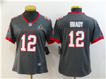 Tampa Bay Buccaneers #12 Tom Brady Women's Gray Super Bowl LV Limited Jersey