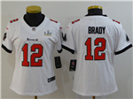 Tampa Bay Buccaneers #12 Tom Brady Women's White Super Bowl LV Limited Jersey