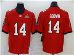 Tampa Bay Buccaneers #14 Chris Godwin Red Super Bowl LV Vapor Limited Jersey
