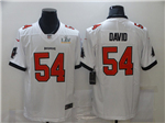 Tampa Bay Buccaneers #54 Lavonte David White Super Bowl LV Limited Jersey