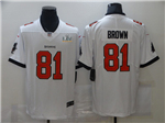 Tampa Bay Buccaneers #81 Antonio Brown White Super Bowl LV Limited Jersey