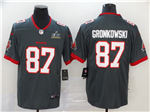 Tampa Bay Buccaneers #87 Rob Gronkowski Gray Super Bowl LV Limited Jersey