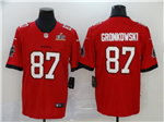 Tampa Bay Buccaneers #87 Rob Gronkowski Red Super Bowl LV Vapor Limited Jersey