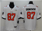 Tampa Bay Buccaneers #87 Rob Gronkowski White Super Bowl LV Limited Jersey