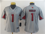 Arizona Cardinals #1 Kyler Murray Women's Gray Inverted Limited Jersey