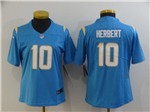 Los Angeles Chargers #10 Justin Herbert Women's Powder Blue Vapor Limited Jersey