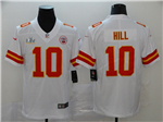 Kansas City Chiefs #10 Tyreek Hill White Super Bowl LV Limited Jersey