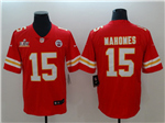 Kansas City Chiefs #15 Patrick Mahomes Red Super Bowl LV Vapor Limited Jersey