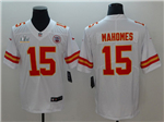 Kansas City Chiefs #15 Patrick Mahomes White Super Bowl LV Limited Jersey