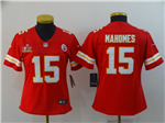 Kansas City Chiefs #15 Patrick Mahomes Women's Red Super Bowl LV Limited Jersey