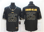 Kansas City Chiefs #25 Clyde Edwards-Helaire Black Gold Vapor Limited Jersey