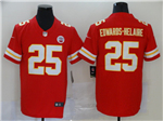 Kansas City Chiefs #25 Clyde Edwards-Helaire Red Vapor Limited Jersey
