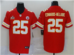 Kansas City Chiefs #25 Clyde Edwards-Helaire Red Super Bowl LV Vapor Limited Jersey